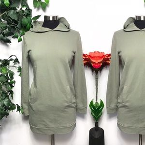 Forever 21 Sage Green Sweatshirt Hoodie Dress - S